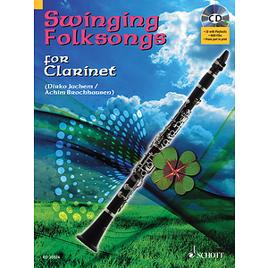 Swinging Folksongs Play-along For Clarinet Bk/cd With Piano Parts To Print
