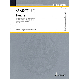 Sonata For Treble Recorder And Basso Continuo Op 2 No 7