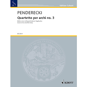 Quartetto per archi no. 3 (Leaves of an unwritten diary)