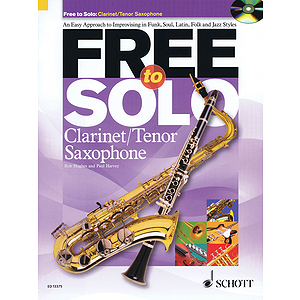 Free To Solo For Clarinet Or Tenor Sax Book/cd