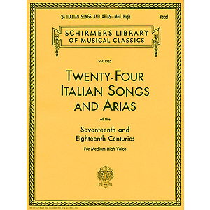 24 Italian Songs &amp; Arias - Medium High Voice (Book only)