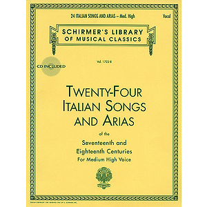 24 Italian Songs & Arias - Medium High Voice (Book/CD)