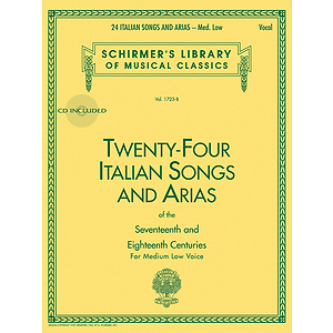 24 Italian Songs & Arias - Medium Low Voice (Book/CD)