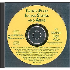 24 Italian Songs & Arias - Medium High Voice (Accompaniment CD)