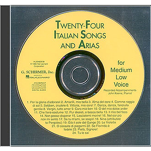 24 Italian Songs & Arias - Medium Low Voice (Accompaniment CD)