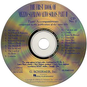 The First Book of Mezzo-Soprano/Alto Solos - Part II