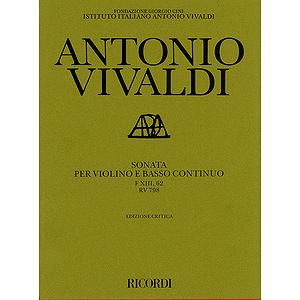 Sonata in G Major for Violin and Basso Continuo RV798