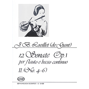 12 Sonatas for Recorder (Flute) and Basso Continuo Op. 1 Volume 2