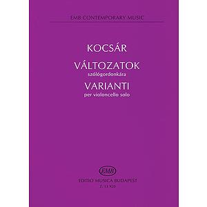 Valtozatok Varianti Violoncello Solo