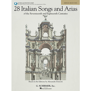28 Italian Songs & Arias of the 17th & 18th Centuries - Medium High - Book/CD Package