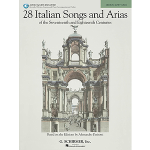 28 Italian Songs & Arias of the 17th & 18th Centuries - Medium Low, Book/CD Package