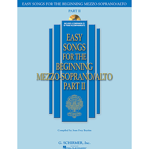 Easy Songs for the Beginning Mezzo-Soprano/Alto - Part II