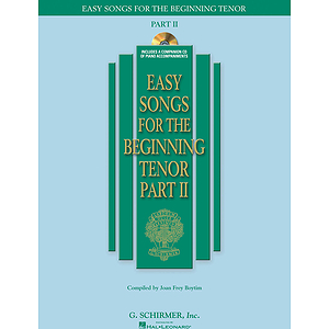 Easy Songs for the Beginning Tenor - Part II