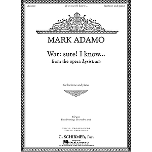War: Sure. I Know... from the opera Lysistrata