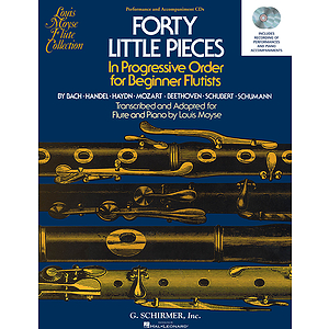 40 Little Pieces in Progressive Order for Beginner Flutists