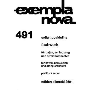 Fachwerk For Bayan, Percussion And String Orchestra Score