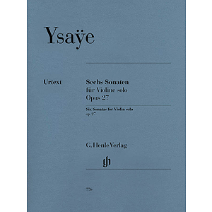 6 Sonatas for Violin Solo Op. 27