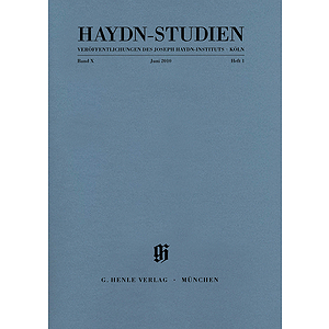 Haydn-Studien, Vol. 10, No. 1 (June 2010)