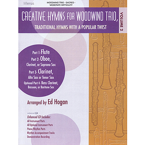 Creative Humns Volume 2 Woodwind Trio - Score W/cdrom