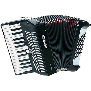 Hohner Bravo II 48 Piano Accordion - Tremolo/White Pearl