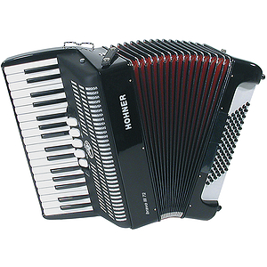 Hohner Bravo III 72 Piano Accordion - Continental Tremolo/Black