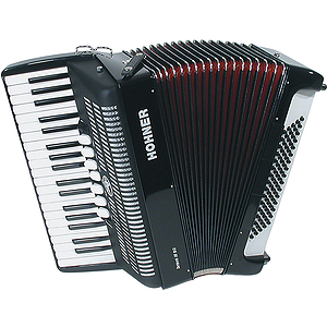 Hohner Bravo III 80 Piano Accordion - Continental Tremolo/Red Pearl