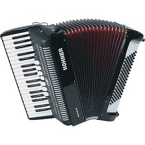 Hohner Bravo III 96 Piano Accordion - Continental Tremolo/Red Pearl