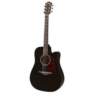Hohner Chorus Series CD65CE Acoustic-Electric Guitar, Transparent Black