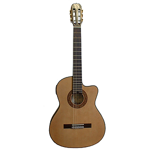 Hohner HC09TE Classical Thinline Acoustic-Electric Guitar - Natural
