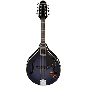 Hohner HMAE-TBL A-style Acoustic-Electric Mandolin - Transparent Blue