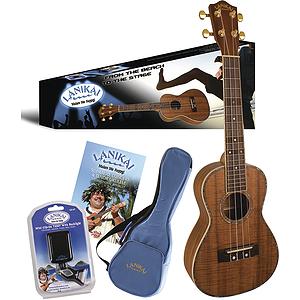 Lanikai Koa Concert Ukulele Pack