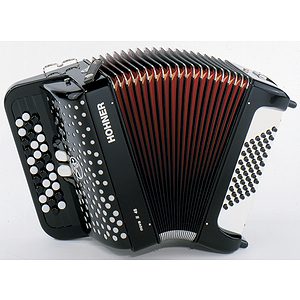 Hohner Nova II 48 Chromatic Button Key Accordion - Tremolo/Black