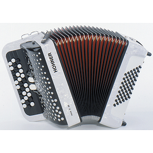 Hohner Nova II 48 Chromatic Button Key Accordion - Tremolo/White Pearl