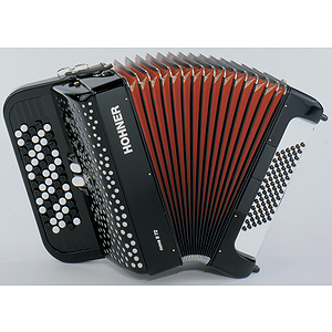 Hohner Nova II 72 Chromatic Button Key Accordion - Tremolo/Red Pearl