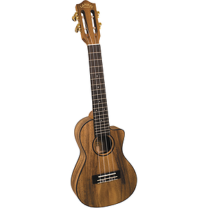 Lanikai SMP-CCA Solid Monkey Pod Concert Cutaway Ukulele with Electronics