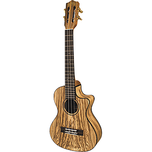 Lanikai SZW-TCA Solid Zebrawood Tenor Cutaway Ukulele with Electronics