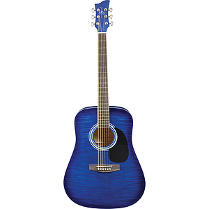 Jay Turser JJ45F Dreadnought Acoustic Guitar - Blue Sunburst