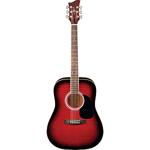 Jay Turser JJ45F Dreadnought Acoustic Guitar - Red Sunburst