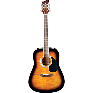 Jay Turser JJ45F Dreadnought Acoustic Guitar - Tobacco Sunburst