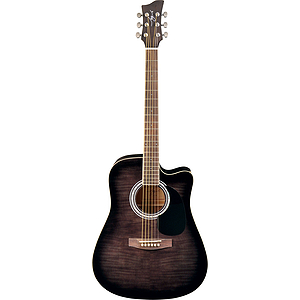 Jay Turser JJ45FCET Dreadnought Acoustic-Electric Guitar - Black Sunburst