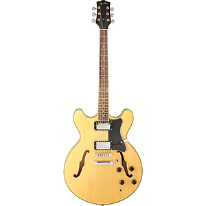 Jay Turser JT-133 Semi-hollow Body Electric Guitar - Natural Honey
