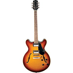 Jay Turser JT-133 Semi-hollow Body Electric Guitar - Tobacco Sunburst