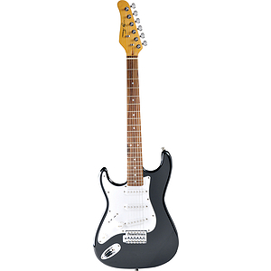 Jay Turser JT-30-LH Left-handed 3/4-size Strat-style Children&#039;s Electric Guitar - Black