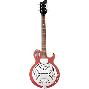 Jay Turser JT-RES Acoustic-Electric Resonator Guitar - See-Thru Red