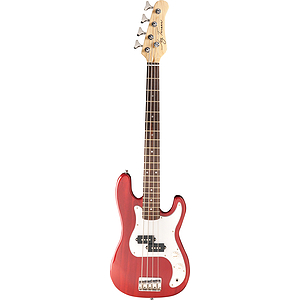 Jay Turser JTB-40 3/4-size Bass Guitar - Transparent Red