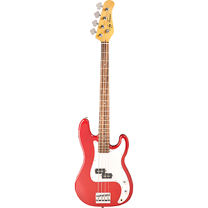 Jay Turser JTB-400C 4-string Bass Guitar - Transparent Red