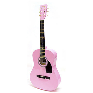 "Darling Divas 3/4-size (36"") Acoustic Guitar - Pink"