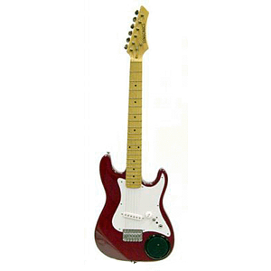 "Crestwood 31"" Children's Electric Guitar w/built-in Amplifier - Transparent Red"