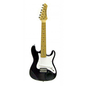 "Crestwood Children's Electric Guitar w/built-in Amplifier - 36"", Black"