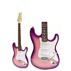Darling Divas Electric Guitar Starter Pack - Pink Starburst